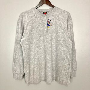 Vintage Mickey Unlimited Embroidered Henley Tee